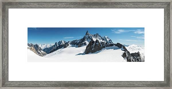 Alps White Wilderness Dramatic Framed Print