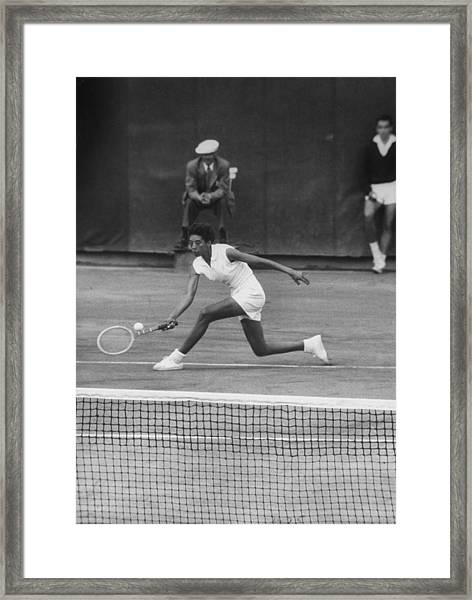 Althea Gibson Framed Print by Thomas D. Mcavoy