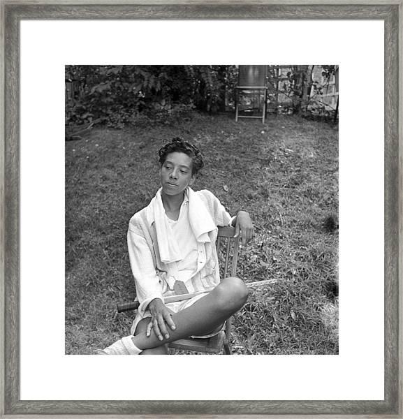 Althea Gibson Watches Match Framed Print