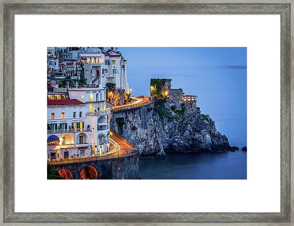 Amalfi Coast Italy Nightlife Framed Print