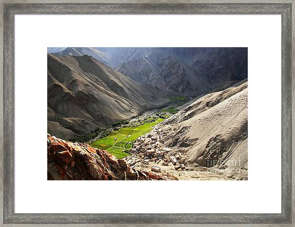 Amazing Scenery Of Runback Valley - Framed Print