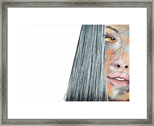 Amber Rose - Woman Abstract Art Framed Print