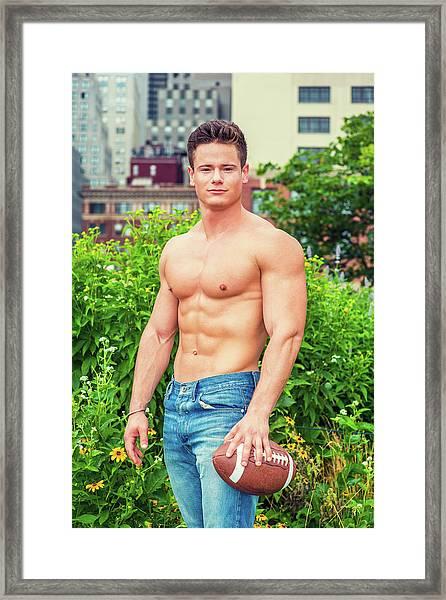 American City Boy.  Framed Print
