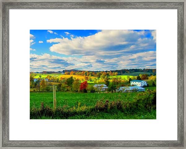 Amish Farm Beauty Framed Print