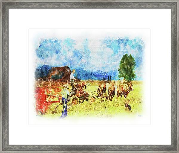 Amish Life Framed Print