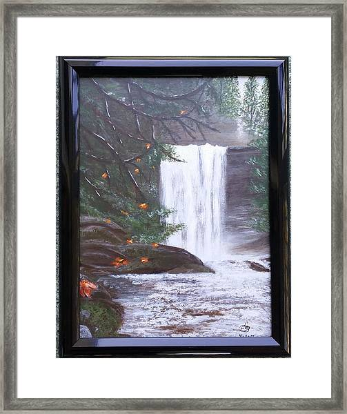 Ammonite Falls Framed Print