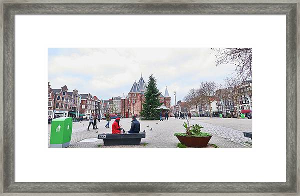 Amsterdam Christmas Framed Print