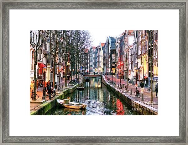 Amsterdam Red Light District Days Framed Print