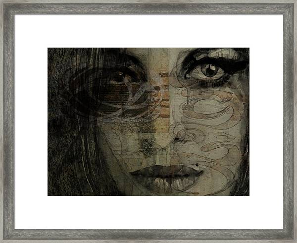 Amy Winehouse - Back To Black Framed Print
