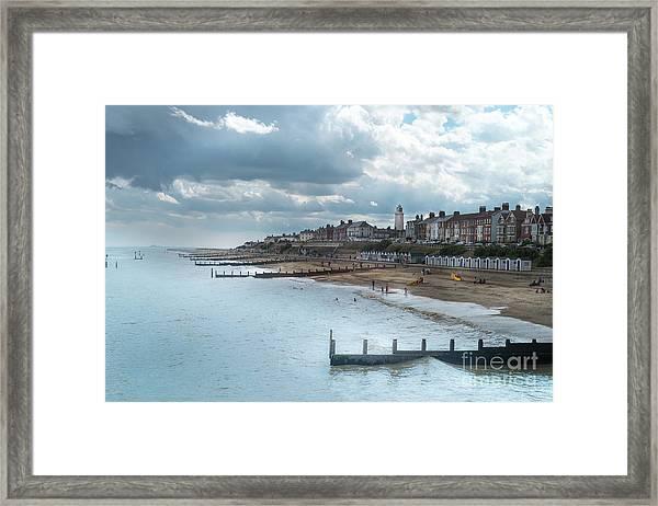 An English Beach Framed Print