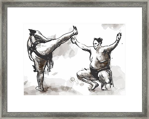 An Hand Drawn Converted Vector From Framed Print