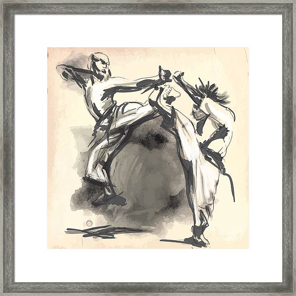An Hand Drawn Converted Vector In Framed Print by Kuco