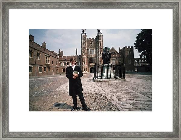 An Hon Framed Print by Slim Aarons