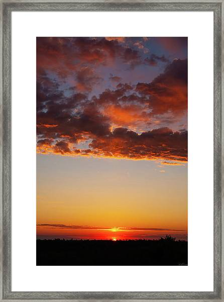 An Oklahoma Sunsrise Framed Print