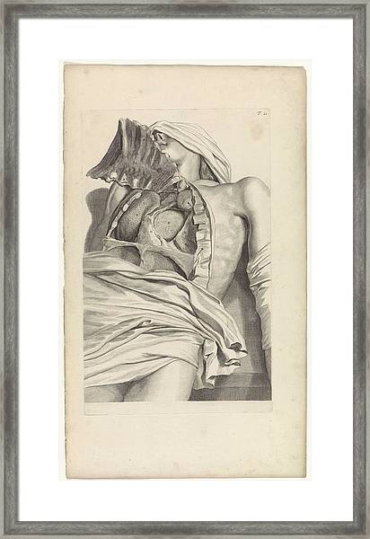 Anatomical Study Of The Opened Chest, Pieter Van Gunst, After Gerard De Lairesse, 1685 Framed Print