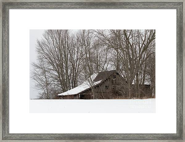 Ancient Barn Framed Print