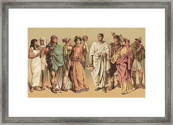Ancient Costumes Framed Print