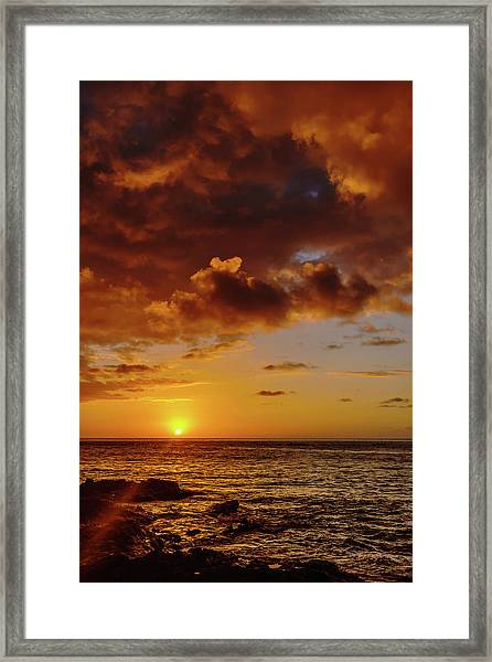 And Then The Sun Set Framed Print