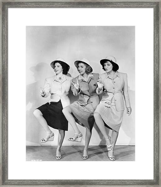 Andrew Sisters Portrait Session Framed Print