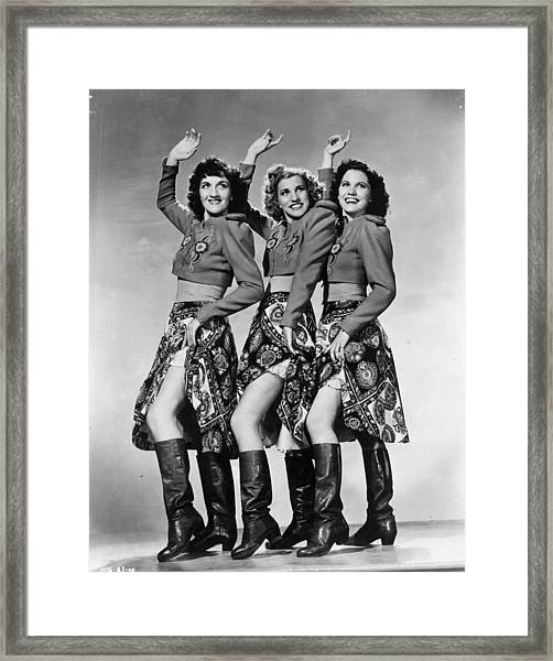 Andrews Sisters Portrait Session Framed Print