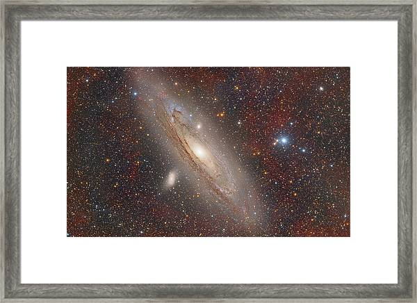 Andromeda With Hydrogen Clouds Framed Print