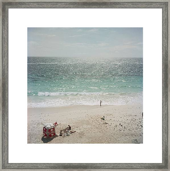 Andros Island Framed Print by Slim Aarons