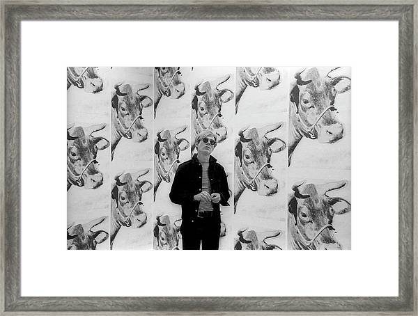 Andy Warhol And Cows Framed Print