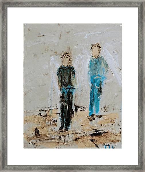 Angel Boys On A Dirt Road Framed Print