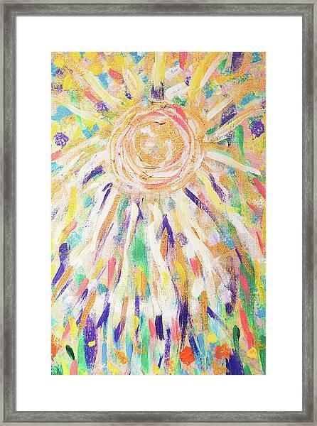 Angel In The Garden Framed Print