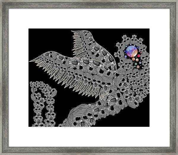 Angel Of Death Light With Worlds To Destroy Save Framed Print