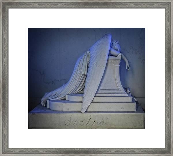 Angel Weeping Framed Print
