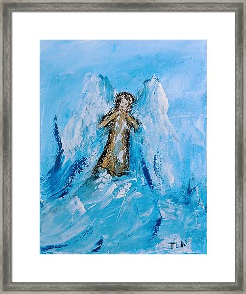 Angel With A Purpose Framed Print