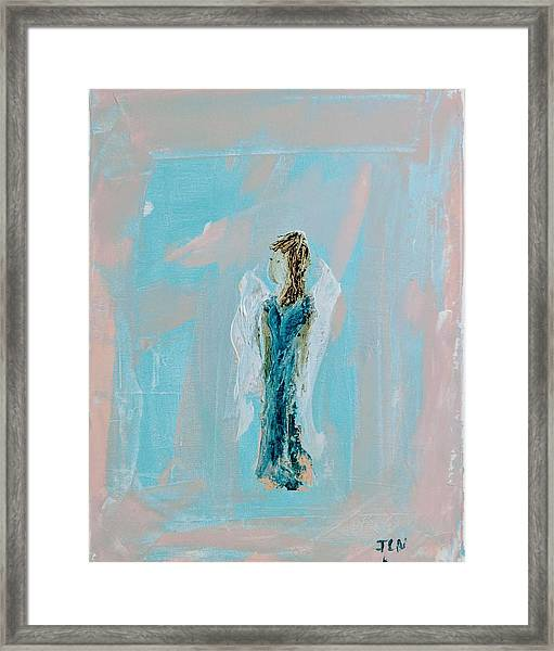 Angel With Character Framed Print