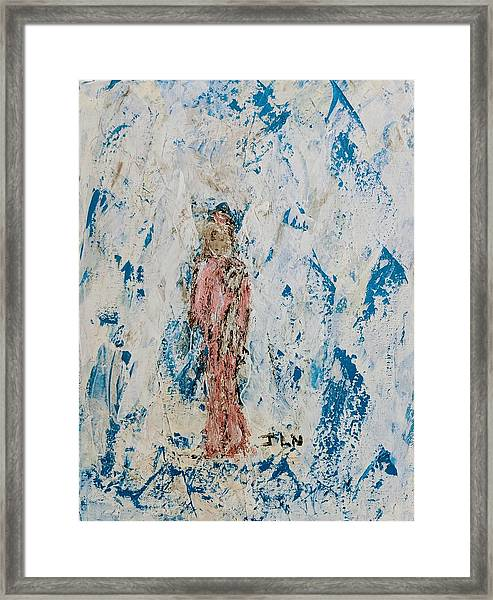 Angel With Her Pet Goat Framed Print