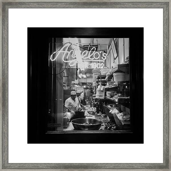 Angelo's Of Mulberry Street Framed Print by Michael Gerbino