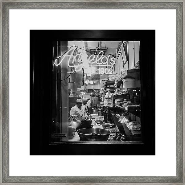 Angelo's Of Mulberry Street Framed Print