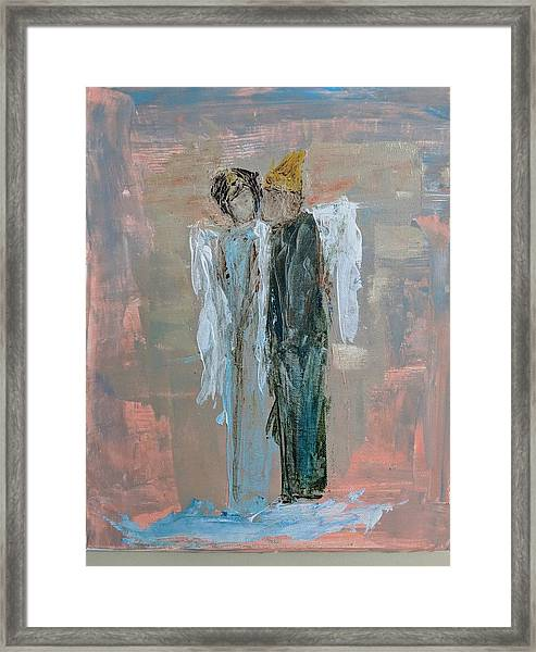 Angels In Love Framed Print