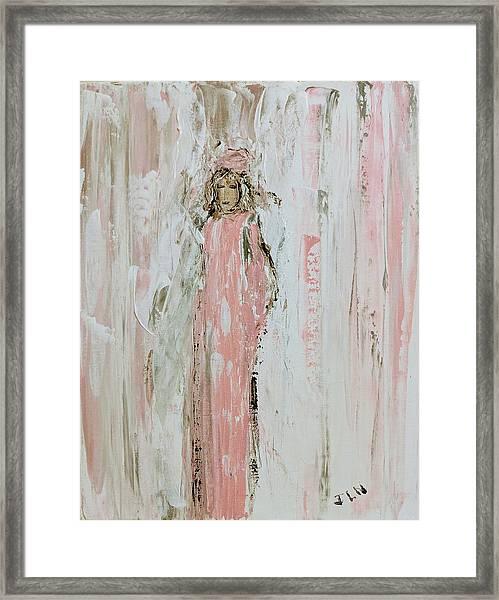Angels In Pink Framed Print