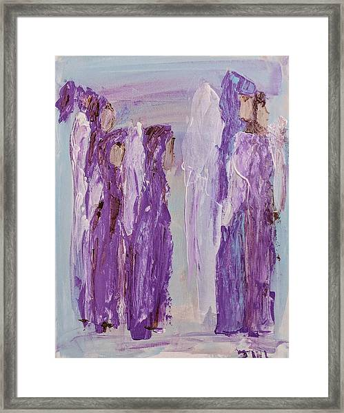 Angels In Purple Framed Print