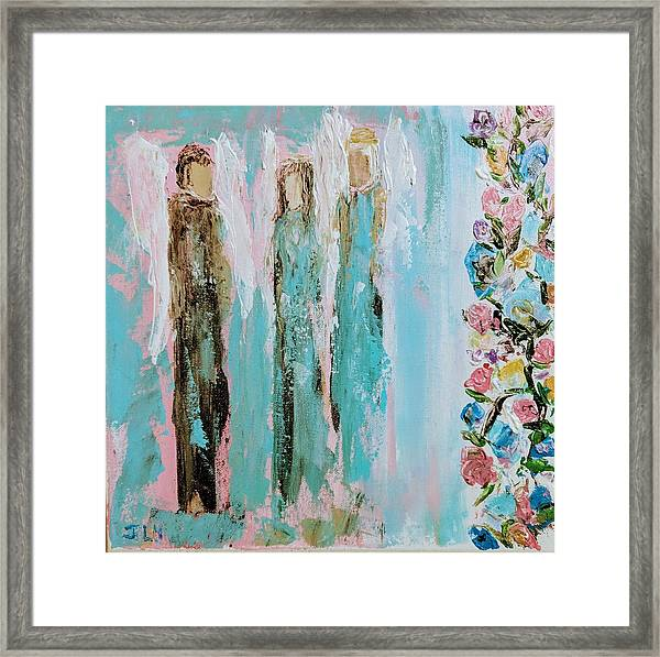 Angels In The Garden Framed Print