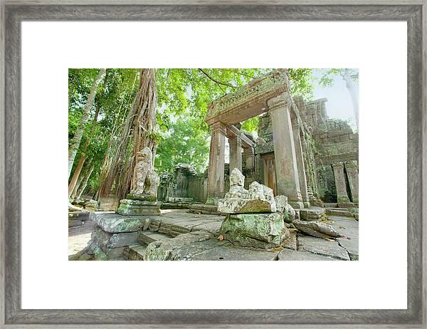 Angkor, Unesco World Heritage Site Framed Print