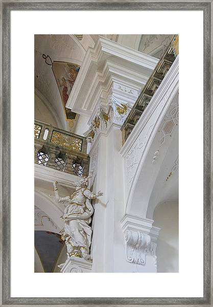 Angles In The Abbey Framed Print