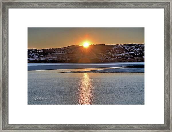 Framed Print featuring the photograph Angostura Sunset by Bill Gabbert