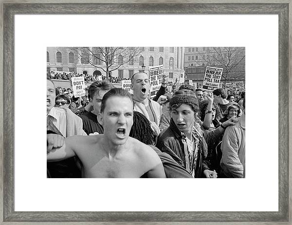Angry Protest Framed Print