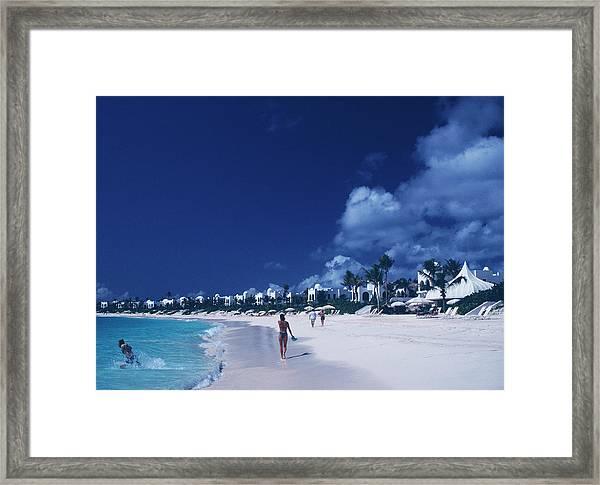 Anguilla Beach Resort Framed Print