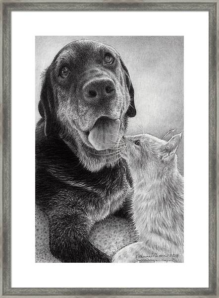 Angus And Linus Framed Print