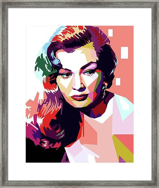 Anita Ekberg Pop Art Framed Print