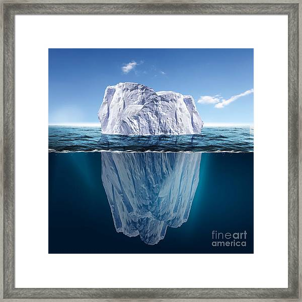Antarctic Iceberg In The Ocean Framed Print