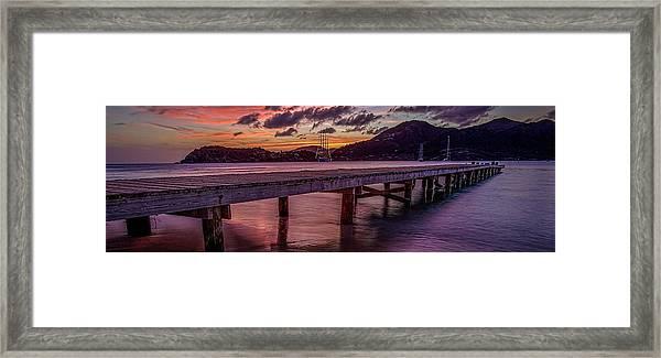 Antigua Evening Framed Print