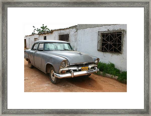 Antique Car Grey Cuba 11300501 Framed Print